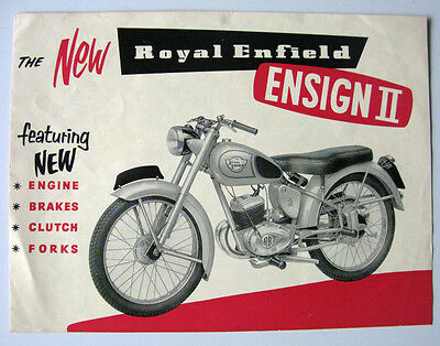 ROYAL ENFIELD ENSIGN II - Motorcycle Sales Brochure - 1956 - #518/30M/1155
