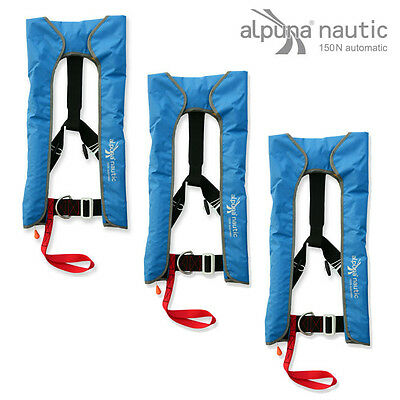 ALPUNAnautic Vollautomatik life jacket 150N blue DIN EN ISO 12402-3 SET OFFER