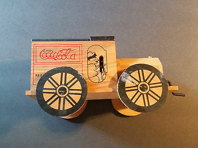 """Cocal-Cola Vintage Wooden Delivery Truck Music Box 8""""x4 1/2"""""""