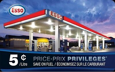 Esso Price Privileges Card - Save $0.05/litre for 1,000 litres!