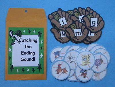 Teacher Made Literacy Center Learning Resource Learning Game Ending Sounds