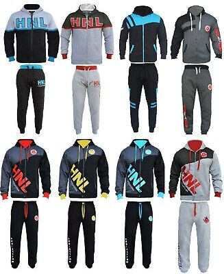 BOYS/GIRLS Designer TRACKSUIT ZIPPED TOP  BOTTOMS KIDS JOGGING SUITS AGE 7 -14