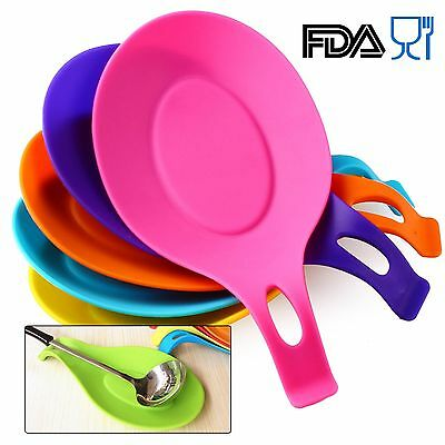 Silicone Spoon Rest Teabag Tray Holder Kitchen Tool Cooking Utensil SCO04-03
