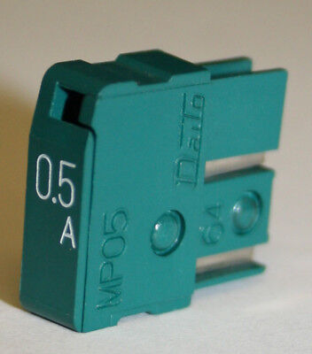 Daito MP05 (0.5A) Amp Green Alarm Fuse Used *Lot of 25* - Used