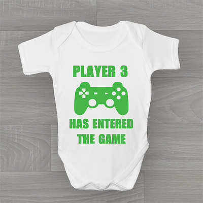 Player 3 Has Entered the Game, Funny Geeky Humour Baby Grow Body Suit Vest