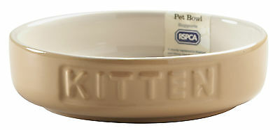 Mason Cash Kitten Bowl Cane & Cream Pet Dish Embossed Cat Food/Water Bowls