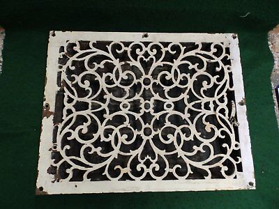 Large Antique Cast Iron Heat Register Grate Vent Old Victorian Vintage 4820-15
