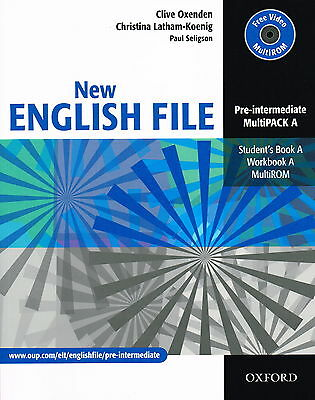 NEW ENGLISH FILE Pre-Intermediate MultiPACK A Student Book Workbook MultiROM NEW