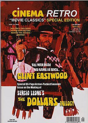 Cinema Retro Clint Eastwood Sergio Leone Special Tribute Edition Issue.
