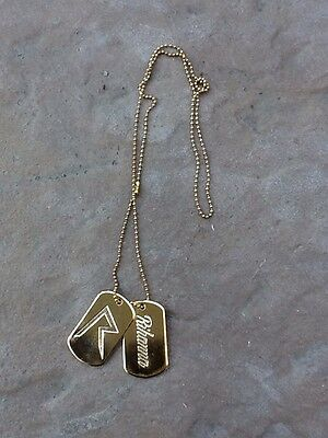 RIHANNA GOLD DOG TAGS - From The  Diamonds World Tour