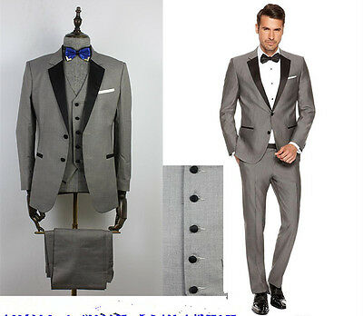 Hot Sale Mens Wedding suits Bridal Groom Tuxedos Formal Suits Party Suits Custom