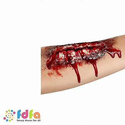 ZOMBIE LATEX OPEN WOUND MUTILATION SCAR BLOOD GORE halloween fancy dress make up