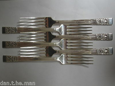 SET of 6 SILVER PLATED DINNER FORKS HAMPTON COURT/ CORONATION - ONEIDA COMMUNITY