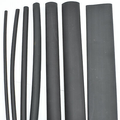 7 x 1.2m, 3:1 GLUE LINED ADHESIVE BLACK HEAT SHRINK TUBING TUBE HEATSHRINK TUBE