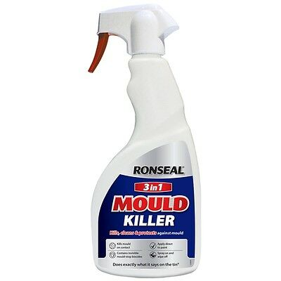 Ronseal 3 In 1 Anti Mould Killer Protection Spray for Walls and Ceilings - 500ml