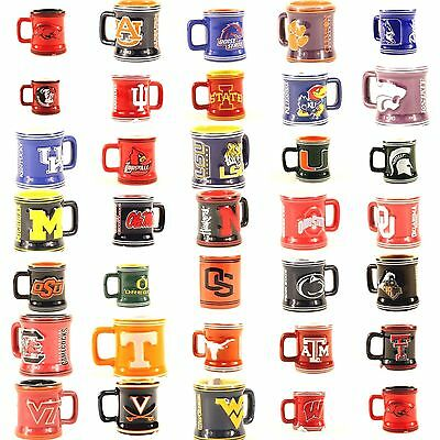 NCAA Teams Sculpted Ceramic 2 Oz Mini Mug Shot Glass - Pick Your Team