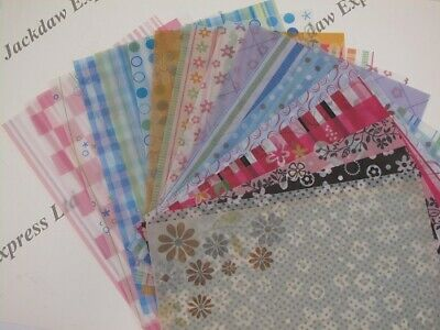 10 x Patterned Vellum Translucent Paper A4 93gsm Choice of 10 Designs Cardmaking