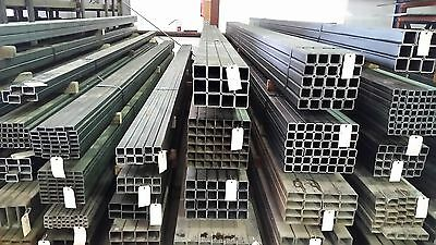 """1 1/4"""" x 1 1/4"""" x .120"""" Wall Square Tubing Steel 4 pieces of 6' lengths"""