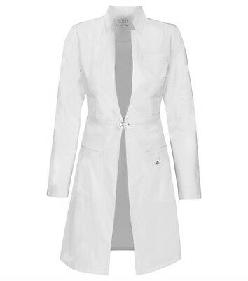 "Scrubs Cherokee Luxe Womens 32"" Lab Coat 1404 WHTV White FREE SHIPPING"