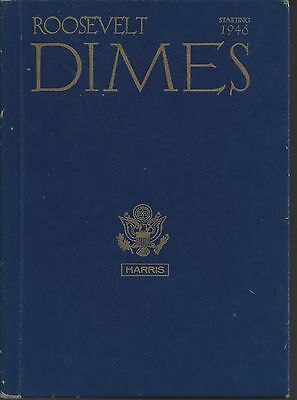 Roosevelt Dimes 1946-1963 with 14  unmarked slots Harris Album