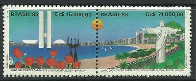 BRAZIL. 1993. Portuguese Speaking Capitals Set. SG: 2579a. Mint Never Hinged