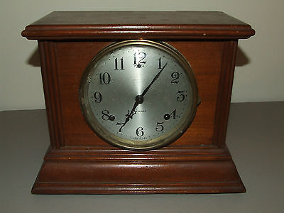 Antique 1920's SESSIONS CLOCK CO.  Victorian Wooden Mantel Shelf Clock