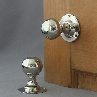 Edwardian Nickel Ball Door Knobs