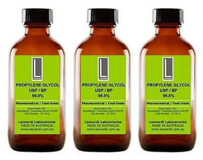 PROPYLENE GLYCOL PG USP & EP 99.8% (Cosmetic & Food Grade) 100ML
