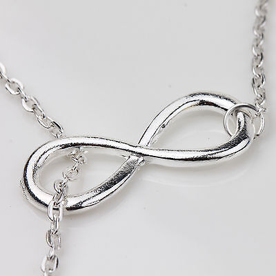 10/20PCS  Silver Plated 8 Infinity Charms Pendants Bracelet Necklace DIY 23x8mm