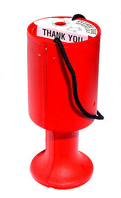 Red Charity Money Collection Box Tin - For Collecting Fundraising Donations
