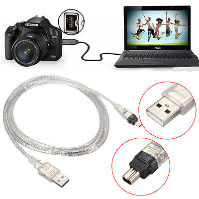 1.5M USB 2.0 Male Vers 4 Pin IEEE 1394 Cable FireWire Adaptateur Convertisseur