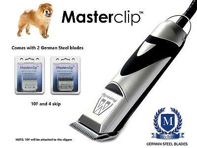 Professional Chow Chow Dog Clippers Trimmer Set with 2 Blades by Masterclip