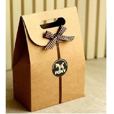 5Pcs Brown Kraft Paper Bags Boxes- Lolly / Party / Gifts / Shops /buffet