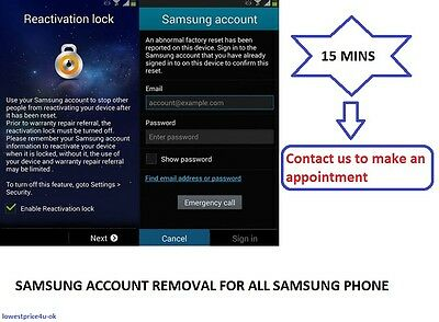 SAMSUNG REACTIVATION LOCK BYPASS/REMOVE Instant Service - S5/S6/Note