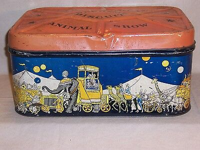 1950's Vintage Large Supreme Biscuit Company Circus Animal Cracker Tin