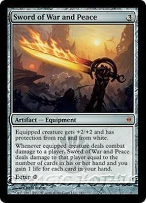SWORD OF WAR AND PEACE New Phyrexia MTG Artifact — Equipment MYTHIC RARE