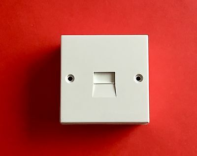 "2/2A Surface Mount Master Telephone Socket with Backing Box in White ""Brand New"""