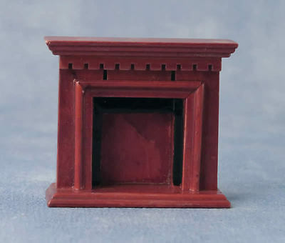 1.24th Scale Mahogany Fireplace, Dolls House Miniatures,