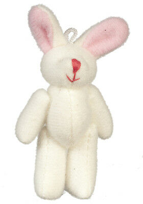 Cute Rabbit Teddy Bear, Dolls House Miniatures, Nursery, 1.12 Scale