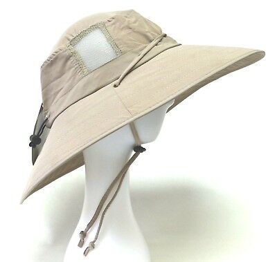 SUN PROTECTION ZONE Unisex BOONEY HAT Lightweight KHAKI Adult 100 SPF UPF 50 + 13df1a3bf78d