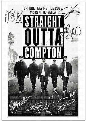 Straight Outta Compton Full Cast Signed Autograph Print Poster Photo Movie Film