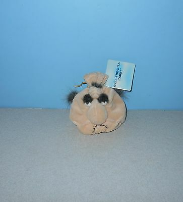"New Russ Berrie Sad Sack #5920 Over The Hill Harry Old MAN 4"" Bean Plush w/ Tag"