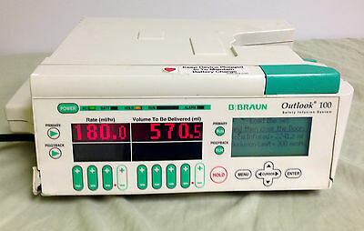 B Braun Outlook 100 Safety Infusion System IV Pump 620-100