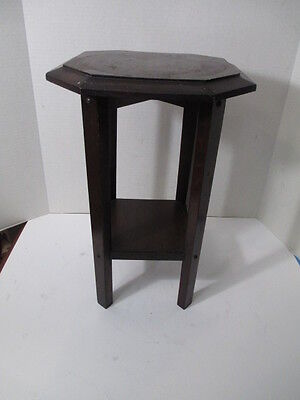 Antique Oak Dark Plant Stand Table HENRY ORLECK