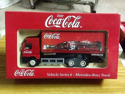1990's Limited Edition Of Coca Coke Special Mercedes Benz Truck Model Enjoy Cola