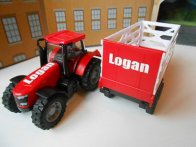 Personalised Any Name Toy Tractor And Trailer Boxed And New!!