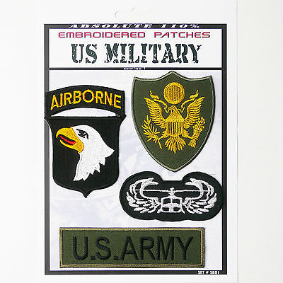 """US ARMY """"AIRBORNE"""" BAND OF BROTHERS Iron-On Patch Super Set #081 - FREE POSTAGE!"""