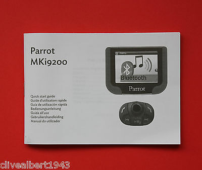 "PARROT MKi9200 Instruction Manual ""NEW"""