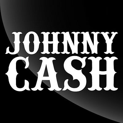 Johnny Cash  Decal Sticker - TONS OF OPTIONS