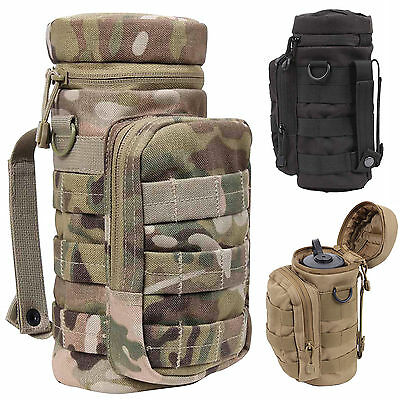 MOLLE Military Army Tactical Water Bottle Canteen Pouch > Multicam, Tan or Black